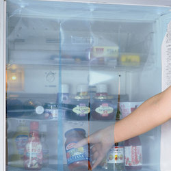 脱臭付き冷蔵庫カーテンクリアブルー